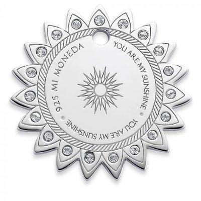 Mi Moneda Mi Moneda Monogram tag Sun 20 mm Silver
