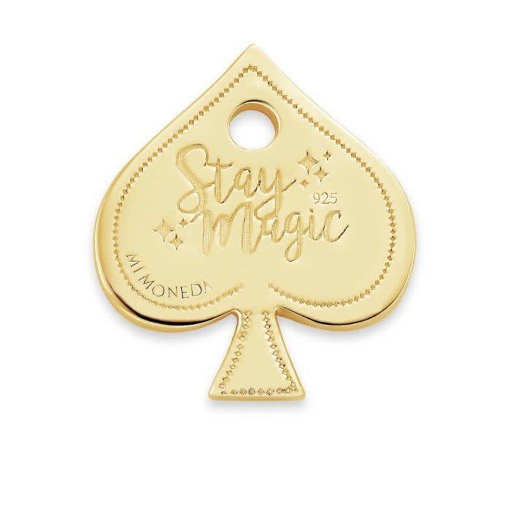 Mi Moneda Mi Moneda Monogram tag Ace 15 mm Gold Plated