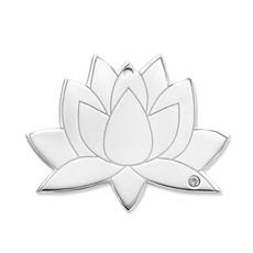 Mi Moneda Mi Moneda Monogram tag Lotus 20 mm Silver