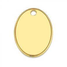 Mi Moneda Mi Moneda Monogram tag Rose Oval 20 mm Gold Plated