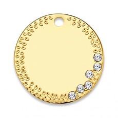 Mi Moneda Mi Moneda Monogram tag Carpe Diem Deluxe Round 20 mm Gold Plated