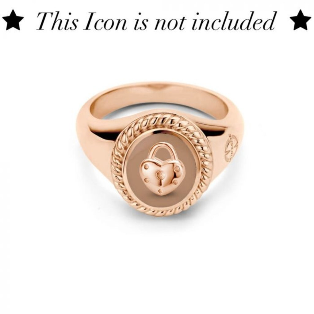Mi Moneda Mi Moneda Icons ring Oval Smokey Rosé Gold Plated