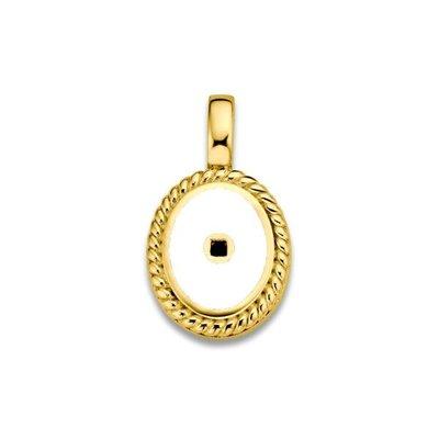 Mi Moneda Mi Moneda Icons pendant Oval White Gold Plated