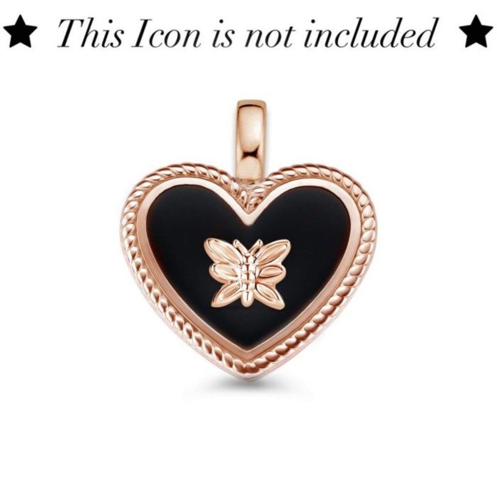 Mi Moneda Mi Moneda Icons pendant Heart Black Rosé Gold
