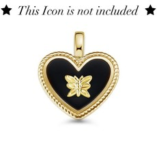 Mi Moneda Mi Moneda Icons pendant Heart Black Gold Plated