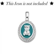 Mi Moneda Mi Moneda Icons pendant Oval Turquoise Silver