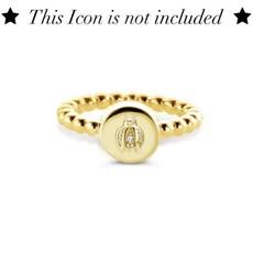 Mi Moneda Mi Moneda Icons ring Round Gold Plated