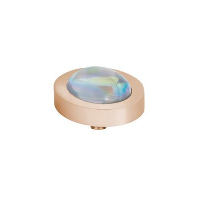 Melano Melano Vivid meddy Oval 14x12 mm Rosé Gold Plated AB