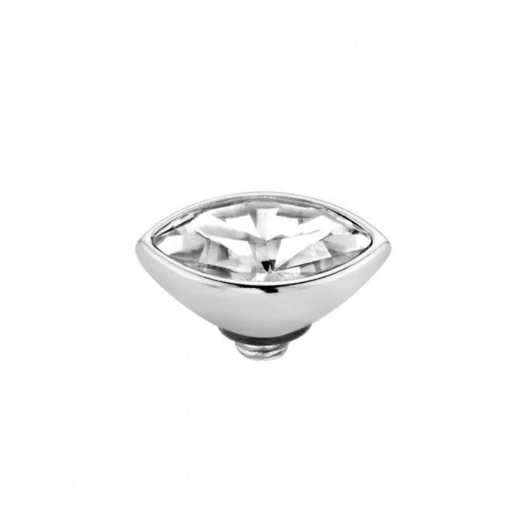 Melano Melano Twisted meddy Marquise 8 mm Stainless Steel Crystal