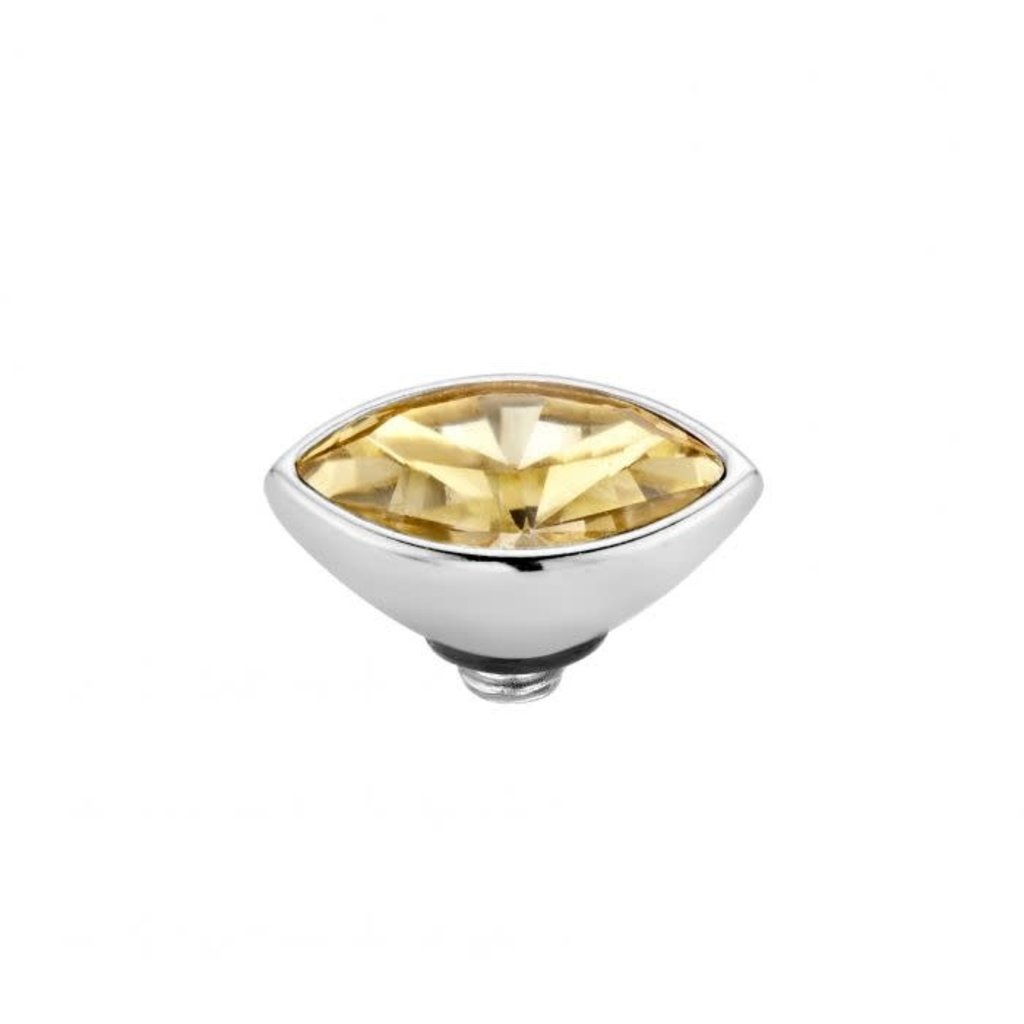 Melano Melano Twisted meddy Marquise 8 mm Stainless Steel Golden Shadow