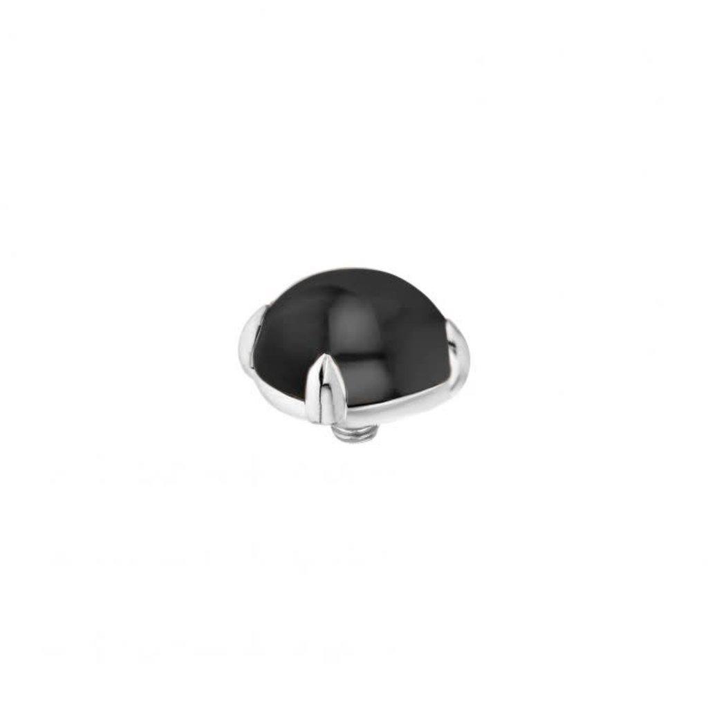 Melano Melano Twisted meddy Bold 8 mm Stainless Steel Black