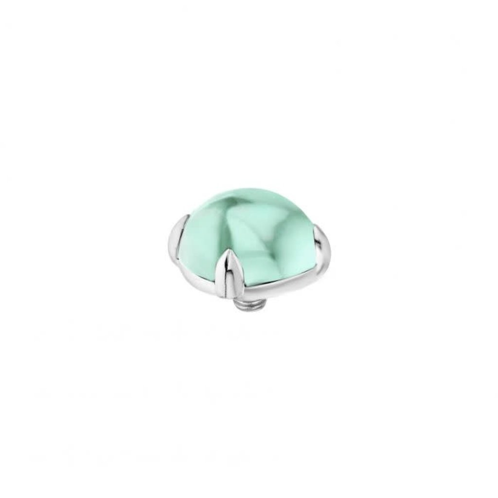 Melano Melano Twisted meddy Bold 8 mm Stainless Steel Turquoise