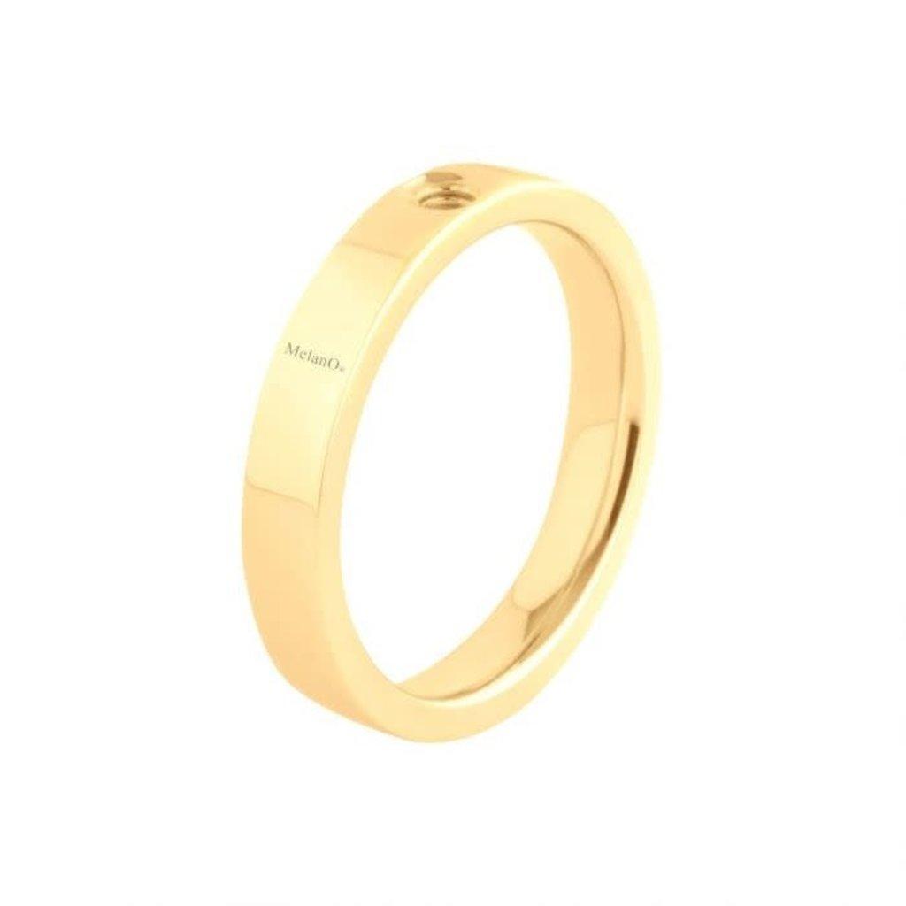 Melano Melano Twisted ring Tatum Gold Plated