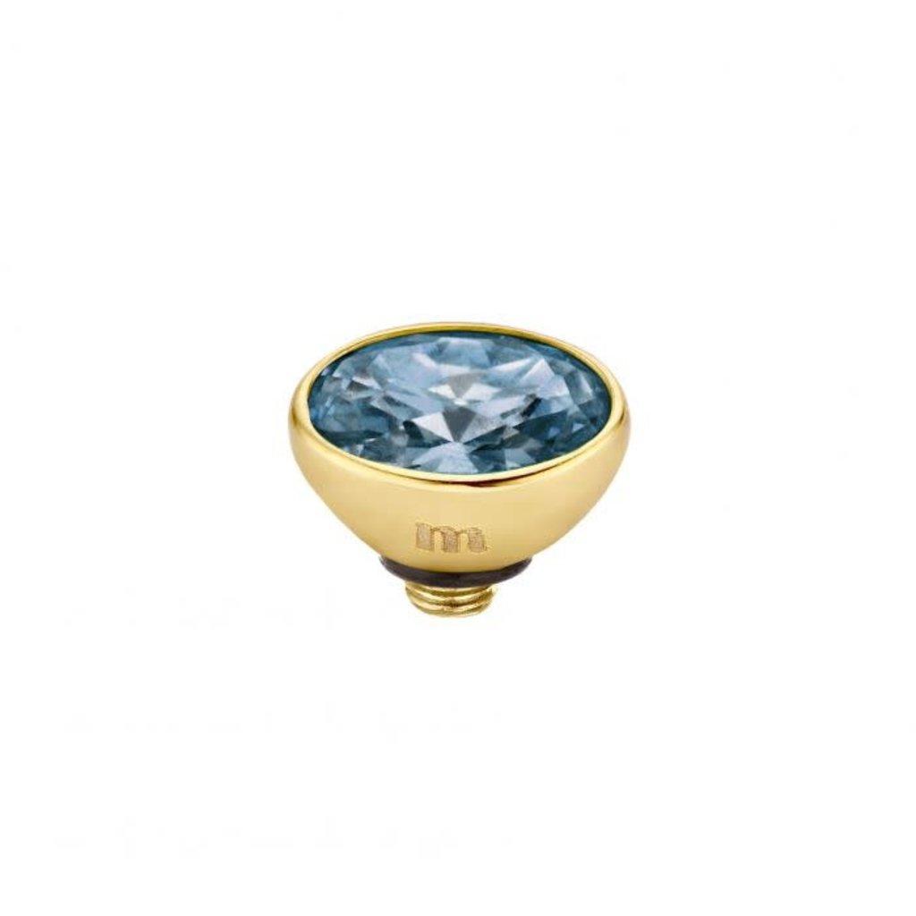 Melano Melano Twisted meddy Oval CZ 6 mm Gold Plated Midnight