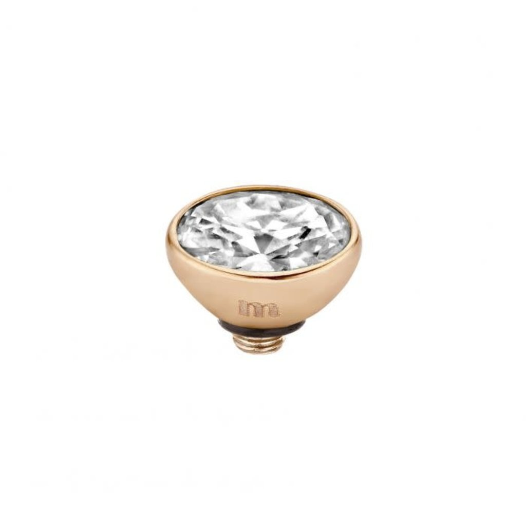 Melano Melano Twisted meddy Oval CZ 6 mm Rosé Gold Plated Crystal