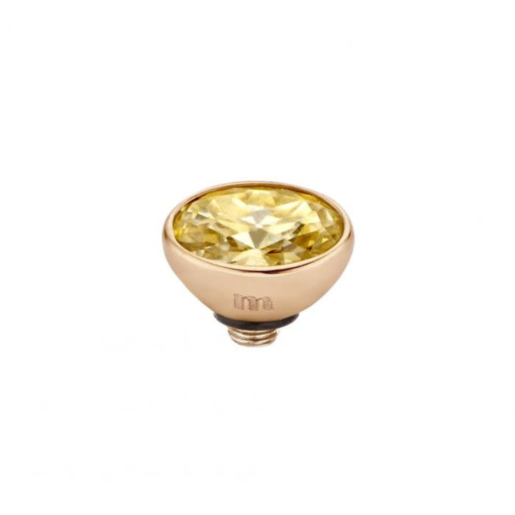 Melano Melano Twisted meddy Oval CZ 6 mm Rosé Gold Plated Golden Shadow