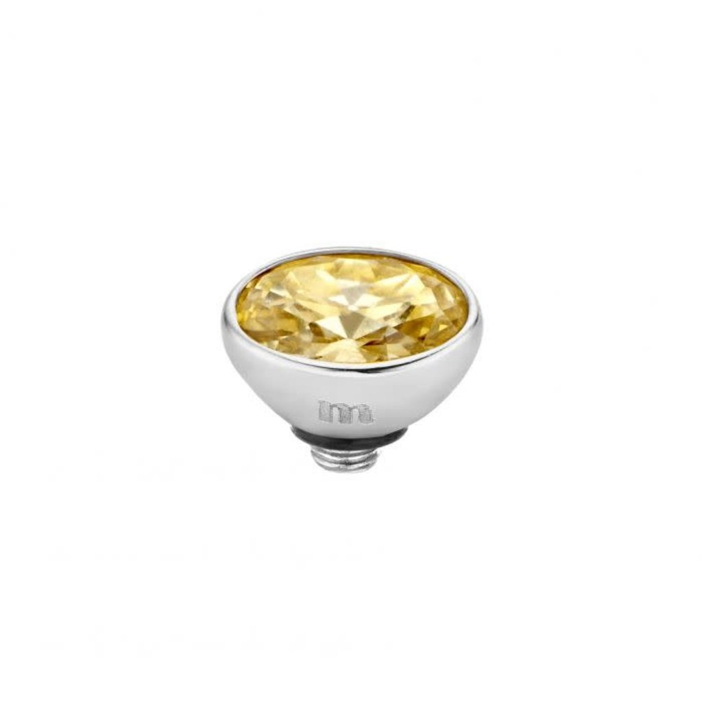 Melano Melano Twisted meddy Oval CZ 6 mm Stainless Steel Golden Shadow