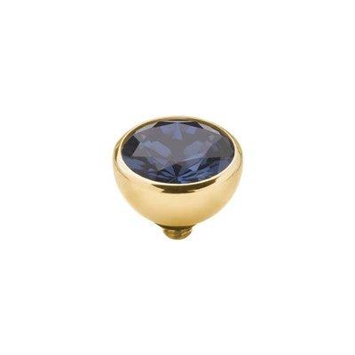 Melano Melano Twisted meddy CZ Gold Plated Navy Blue