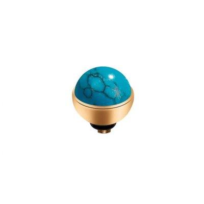 Melano Melano Twisted meddy Gemstone Gold Plated Turquoise
