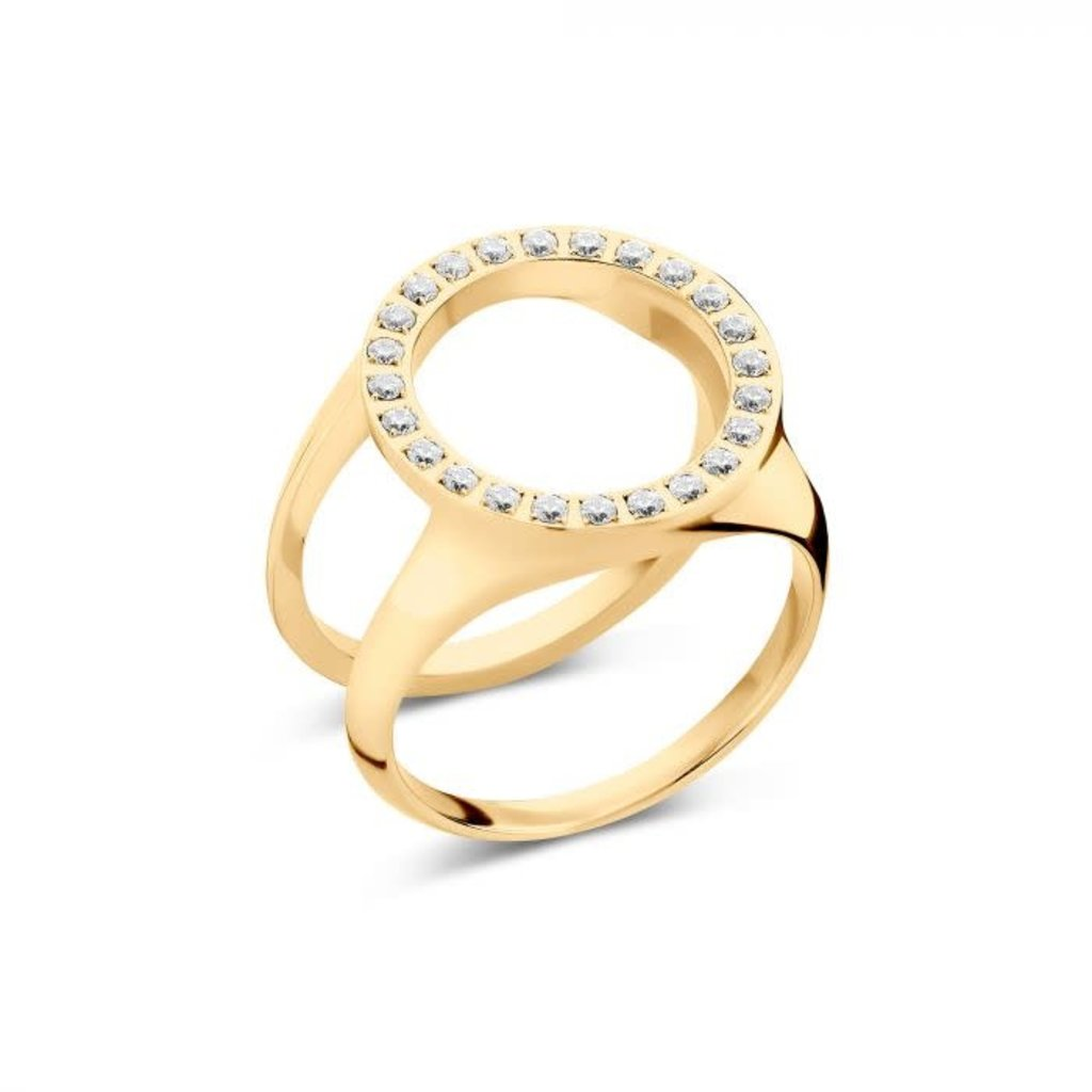 Melano Melano Friends ring Cover CZ Gold Plated