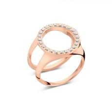 Melano Melano Friends ring Cover CZ Rosé Gold Plated