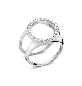 Melano Melano Friends ring Cover CZ Stainless Steel