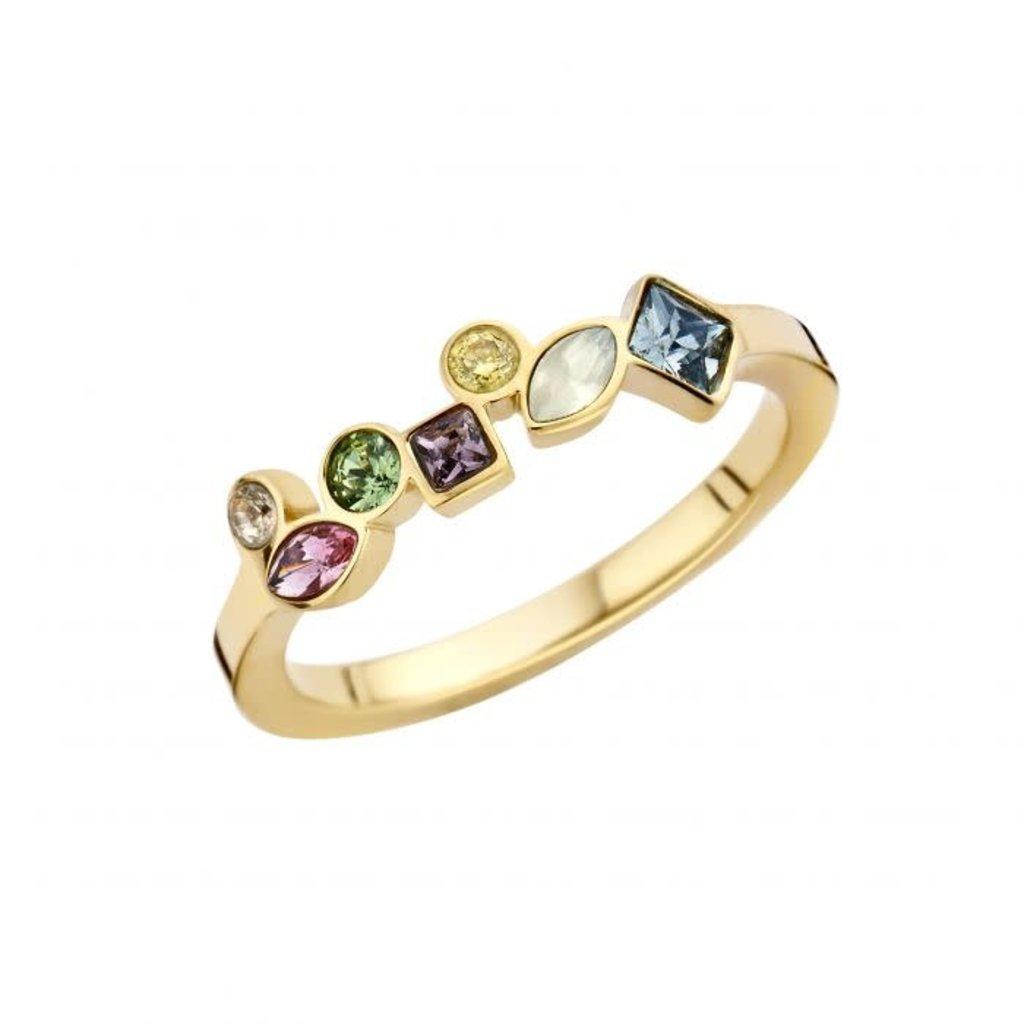 Melano Melano Friends ring Mosaic Hue Gold Plated
