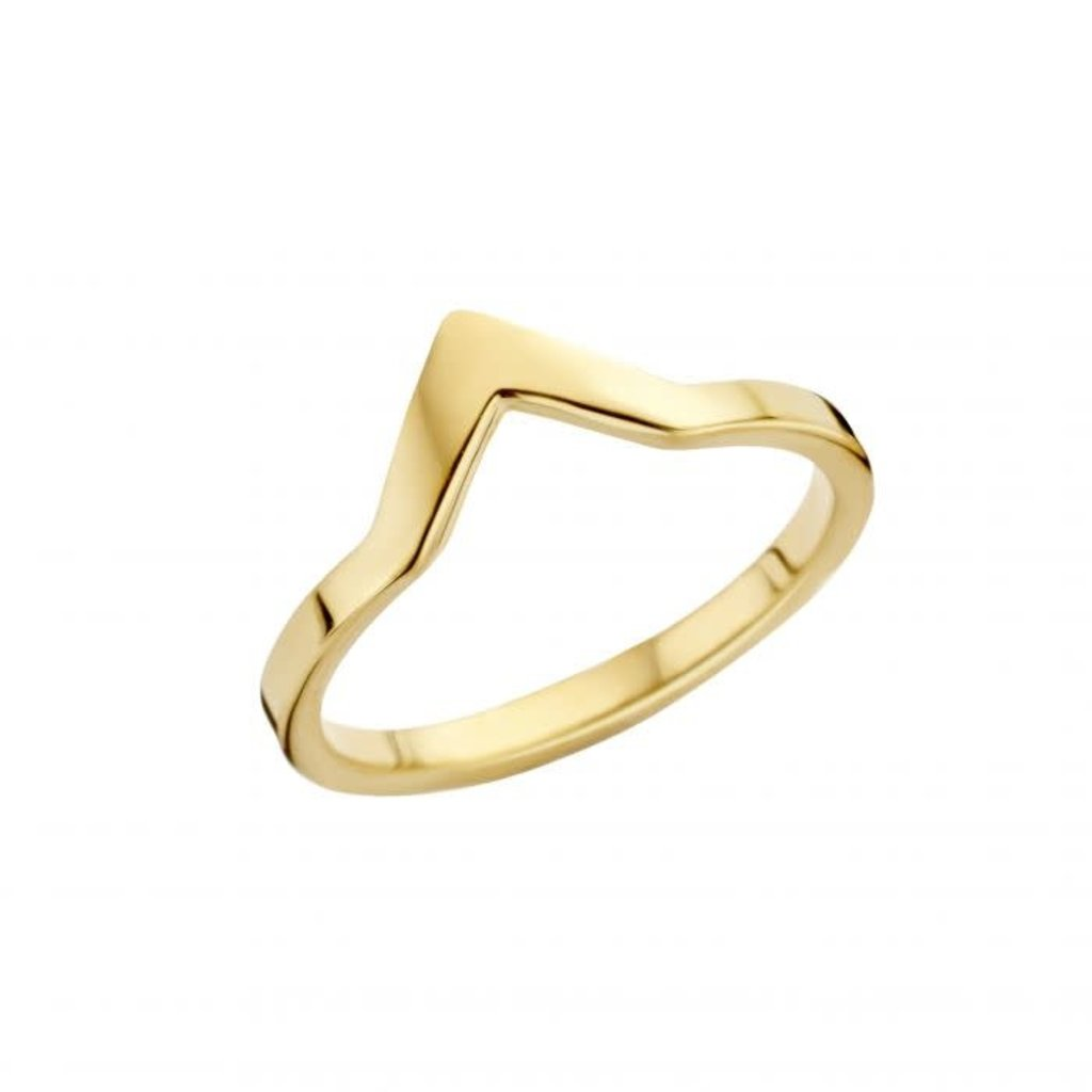 Melano Melano Friends ring Pointed Gold Plated