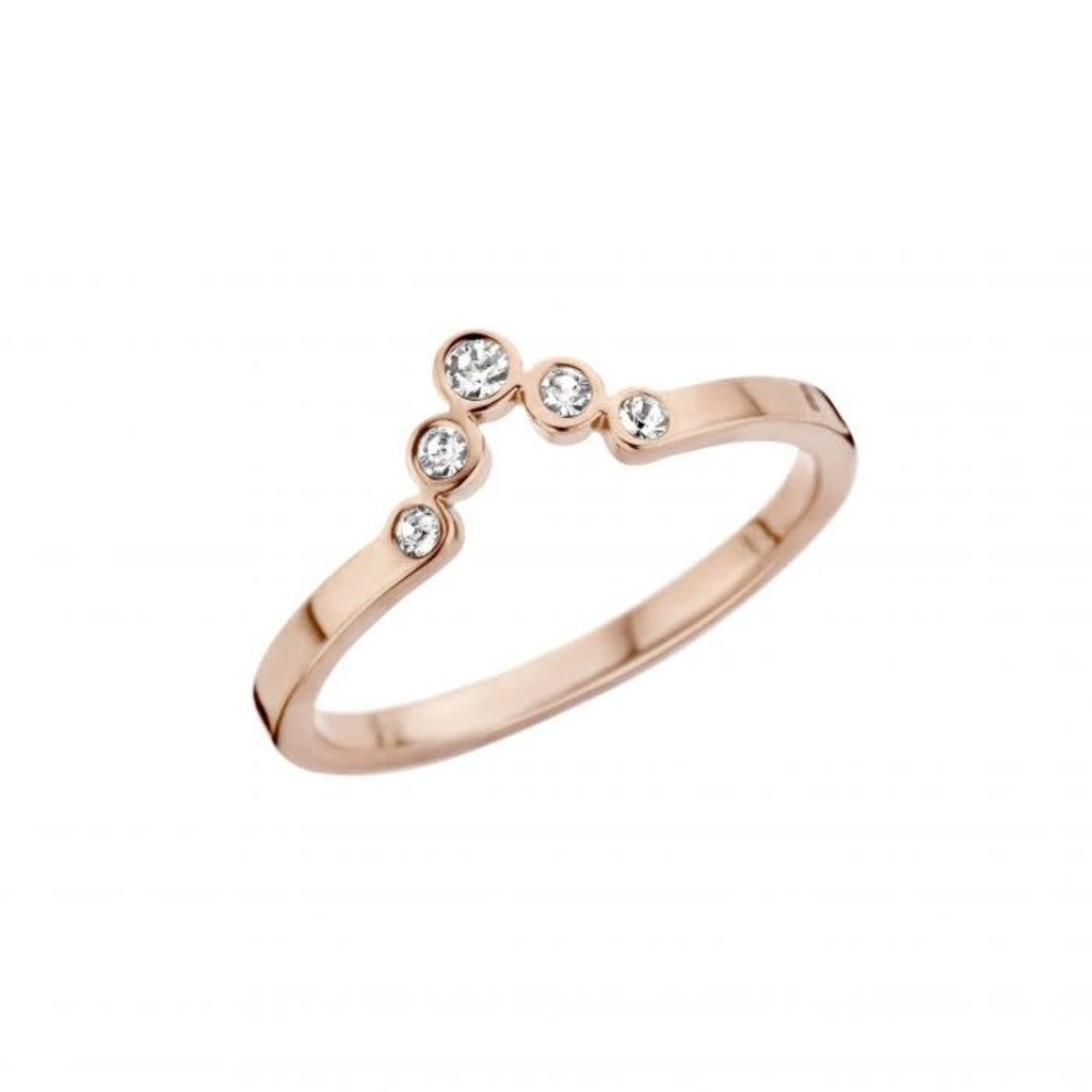 Melano Melano Friends ring Pointed CZ Rosé Gold Plated