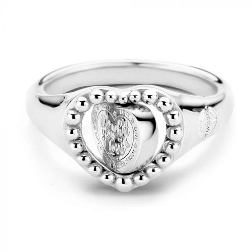 Mi Moneda Mi Moneda Vintage ring Queens Heart Silver