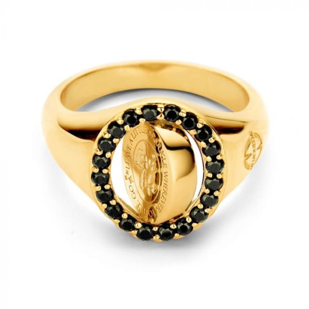 Mi Moneda Mi Moneda Vintage ring Lolita Oval Gold Plated