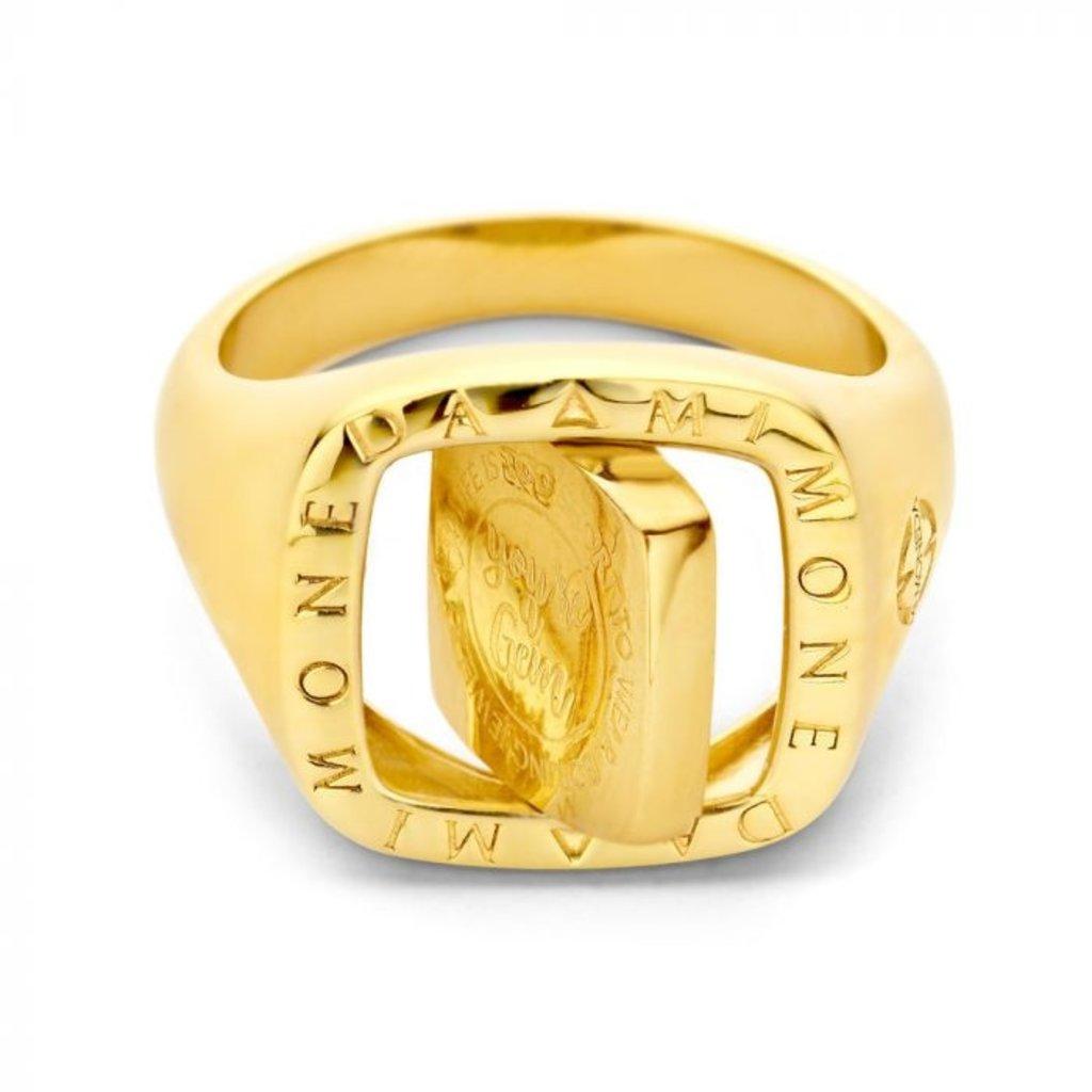 Mi Moneda Mi Moneda Vintage ring Lenox Square Gold Plated