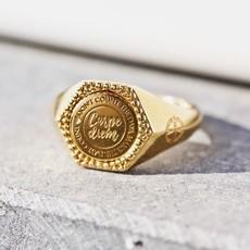 Mi Moneda Mi Moneda Vintage ring Hudson Hexagon Gold Plated