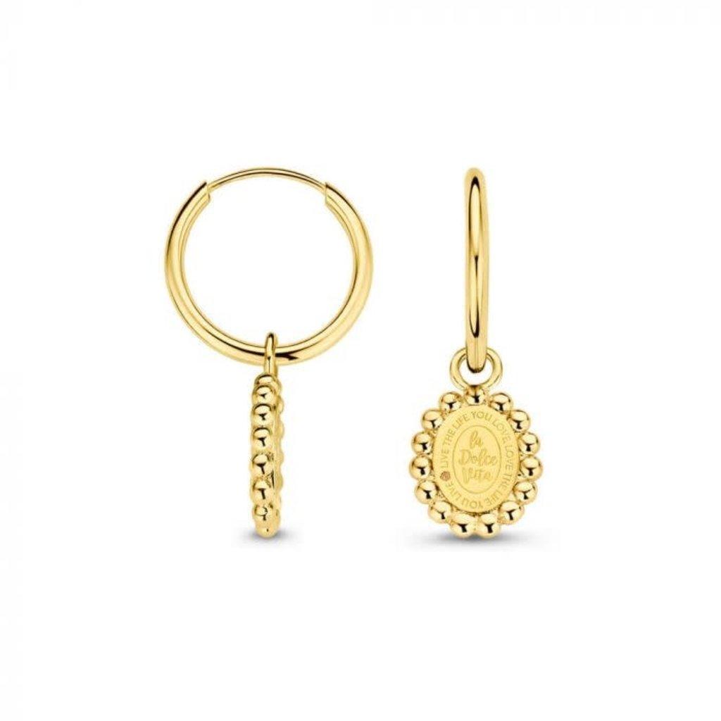 Mi Moneda Mi Moneda Vintage oorbellen Soho Oval Gold Plated