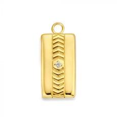 Mi Moneda Mi Moneda Vintage medallion Rectangle Gold Plated