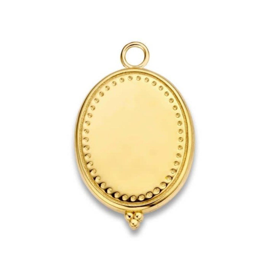 Mi Moneda Mi Moneda Vintage medallion Oval Gold Plated