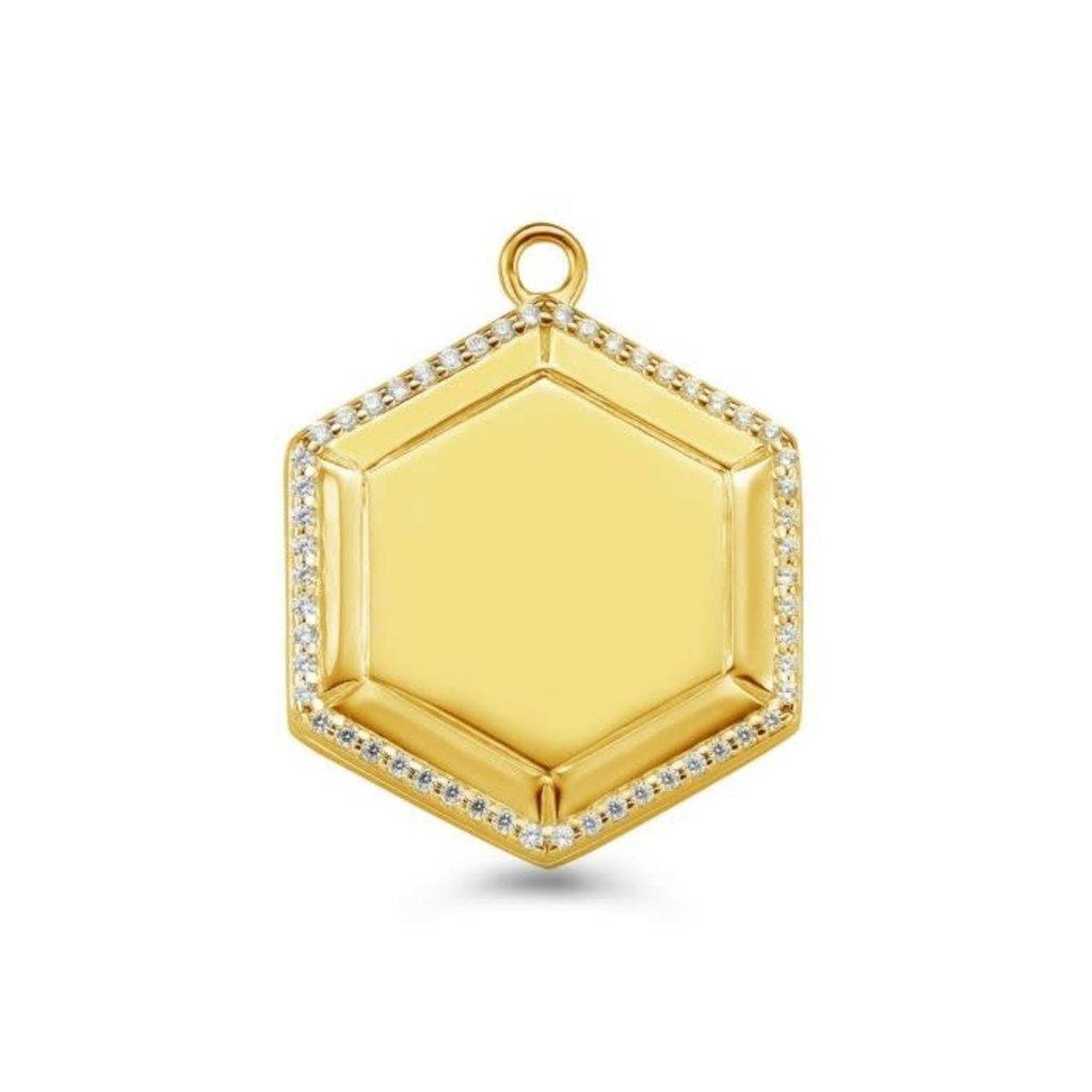 Mi Moneda Mi Moneda Vintage medallion Hexagon Gold Plated