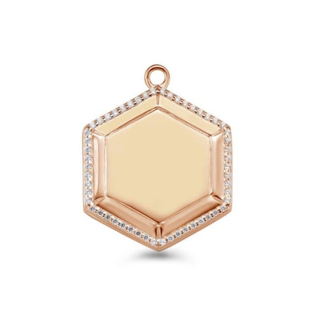 Mi Moneda Mi Moneda Vintage medallion Hexagon Rosé Gold Plated