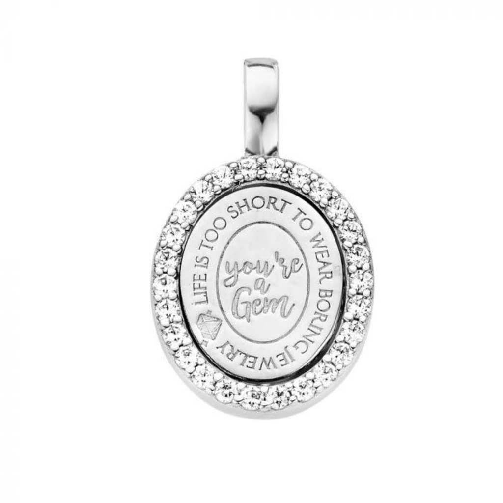 Mi Moneda Mi Moneda Vintage pendant Brooklyn Oval Silver