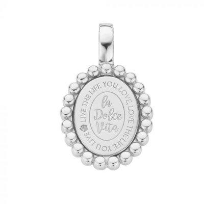 Mi Moneda Mi Moneda Vintage pendant Soho Oval Silver
