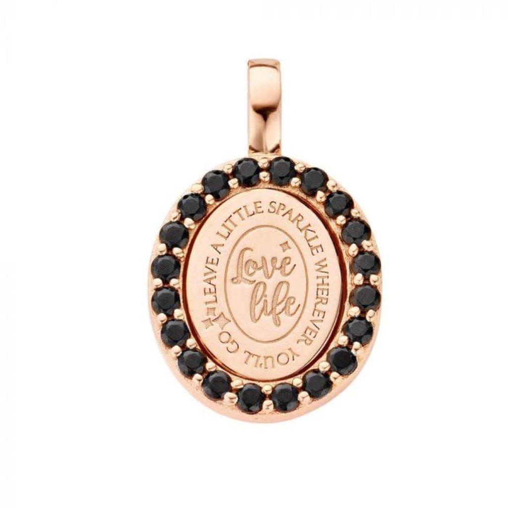 Mi Moneda Mi Moneda Vintage pendant Lolita Oval Rosé Gold Plated
