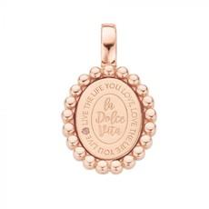 Mi Moneda Mi Moneda Vintage pendant Soho Oval Rosé Gold Plated
