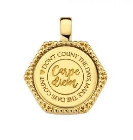 Mi Moneda Mi Moneda Vintage pendant Hudson Hexagon Gold Plated