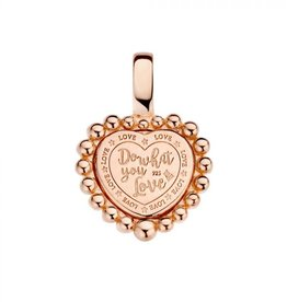 Mi Moneda Mi Moneda Vintage pendant Queens Heart Rosé Gold Plated