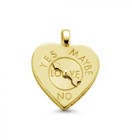 Mi Moneda Mi Moneda Vintage pendant Fortune Teller Heart Gold Plated