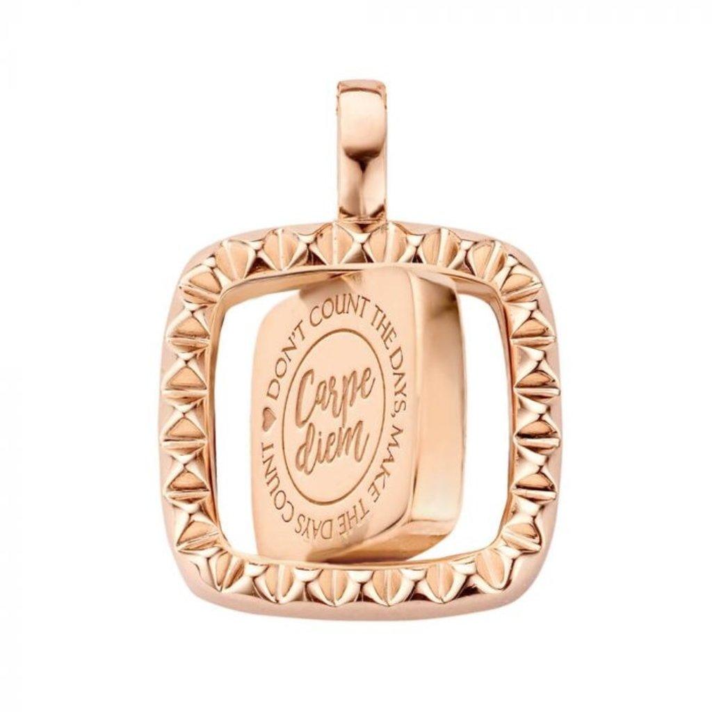 Mi Moneda Mi Moneda Vintage pendant Manhattan Square Rosé Gold Plated