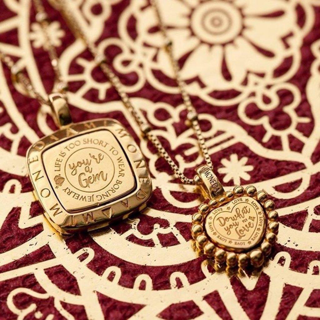 Mi Moneda Mi Moneda Vintage pendant Queens Heart Gold Plated
