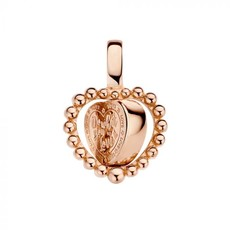 Mi Moneda Mi Moneda Vintage pendant Queens Heart Rosé Gold Plated