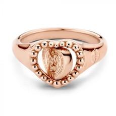 Mi Moneda Mi Moneda Vintage ring Queens Heart Rosé Gold Plated