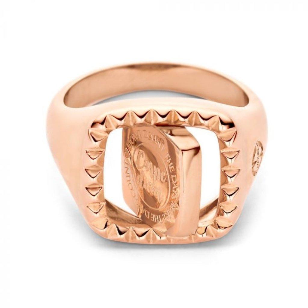 Mi Moneda Mi Moneda Vintage ring Manhattan Square Rosé Gold Plated